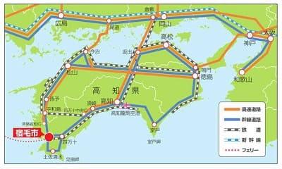 高知県宿毛市マップ
