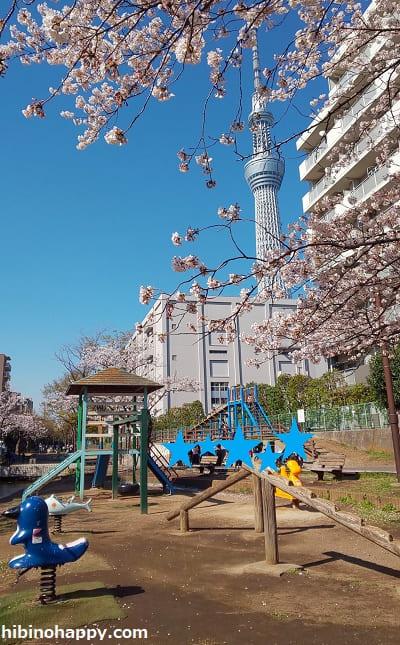 大横川親水公園・ちびっ子広場の遊具