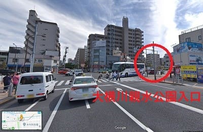 大横川親水公園への入り口