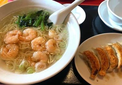 中国料理「まつざと」えびラーメンセット
