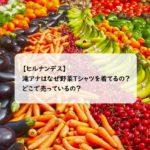 【ヒルナンデス】滝アナが野菜Tシャツを着ているのはなぜ?どこで買える?世界一周女子旅でも着用