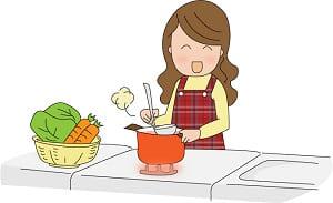 キッチンの母